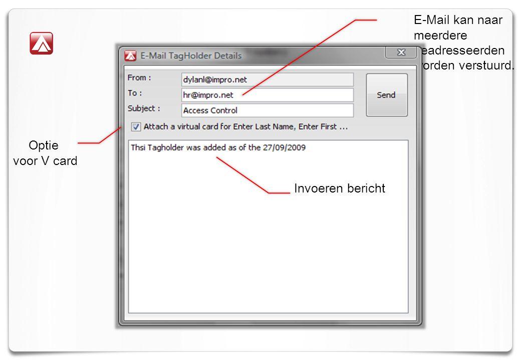 E-Mail kan naar meerdere geadresseerden worden verstuurd.