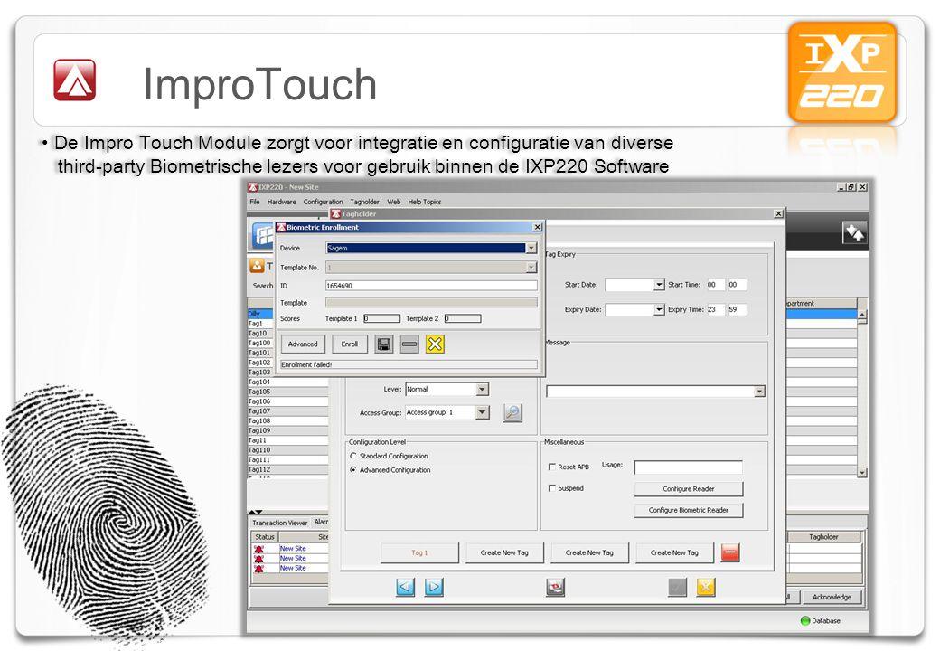 ImproTouch De Impro Touch Module zorgt voor integratie en configuratie van diverse.