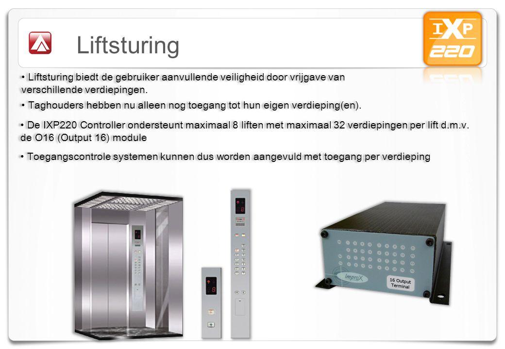 Liftsturing Liftsturing biedt de gebruiker aanvullende veiligheid door vrijgave van verschillende verdiepingen.