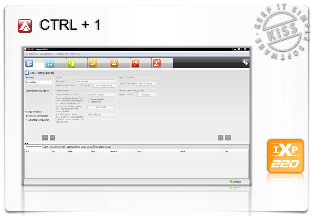 CTRL + 1