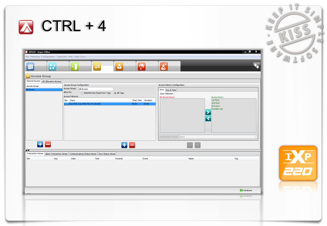 CTRL + 4