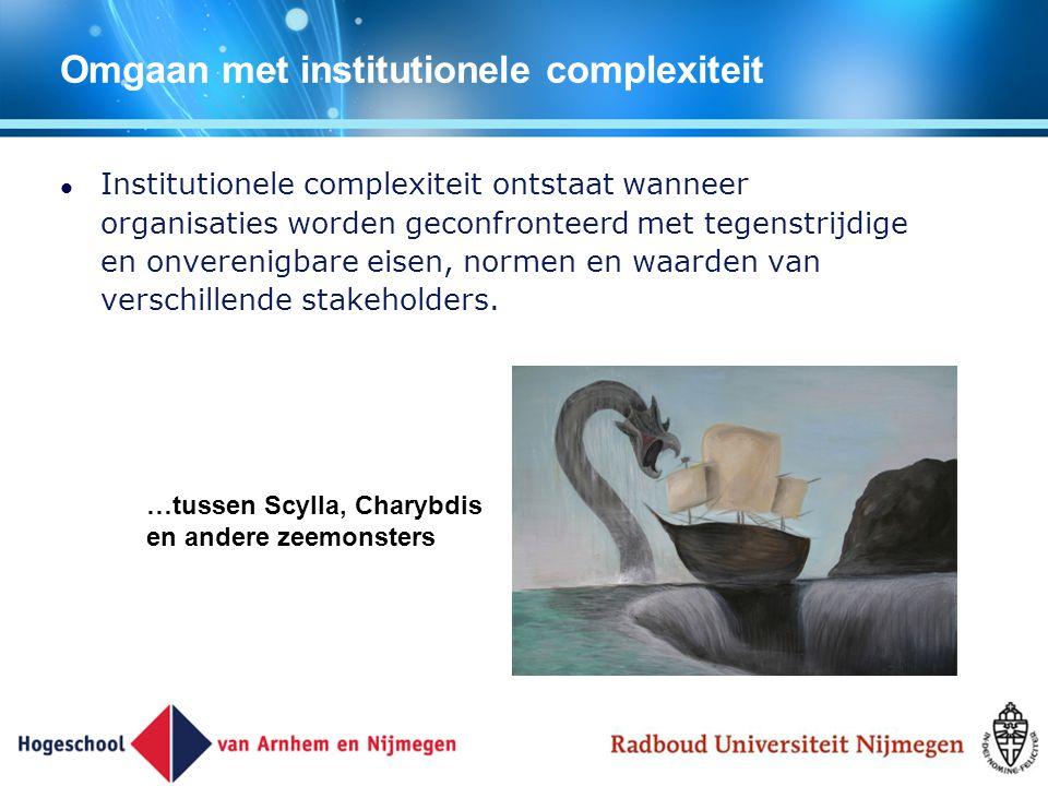 Omgaan met institutionele complexiteit