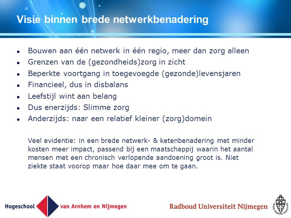 Visie binnen brede netwerkbenadering