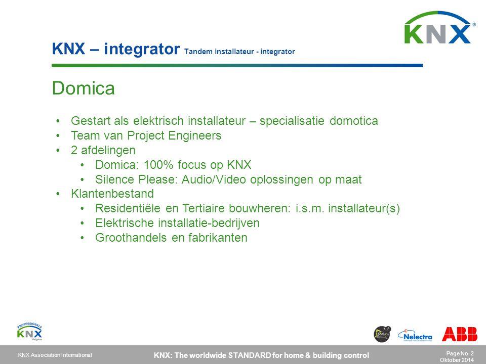 Domica KNX – integrator Tandem installateur - integrator