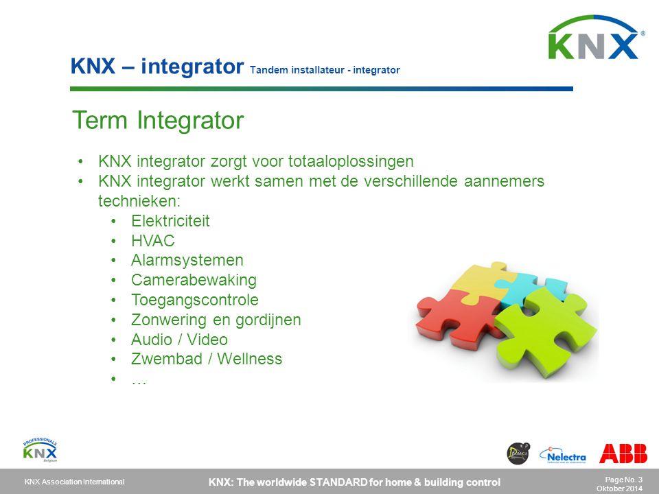 Term Integrator KNX – integrator Tandem installateur - integrator