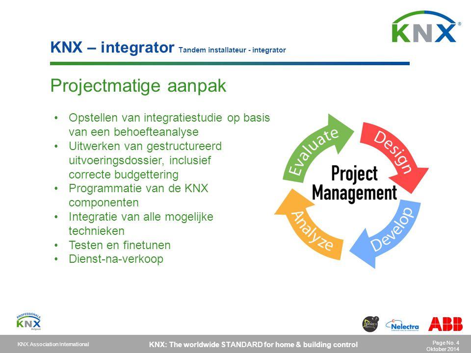 Projectmatige aanpak KNX – integrator Tandem installateur - integrator