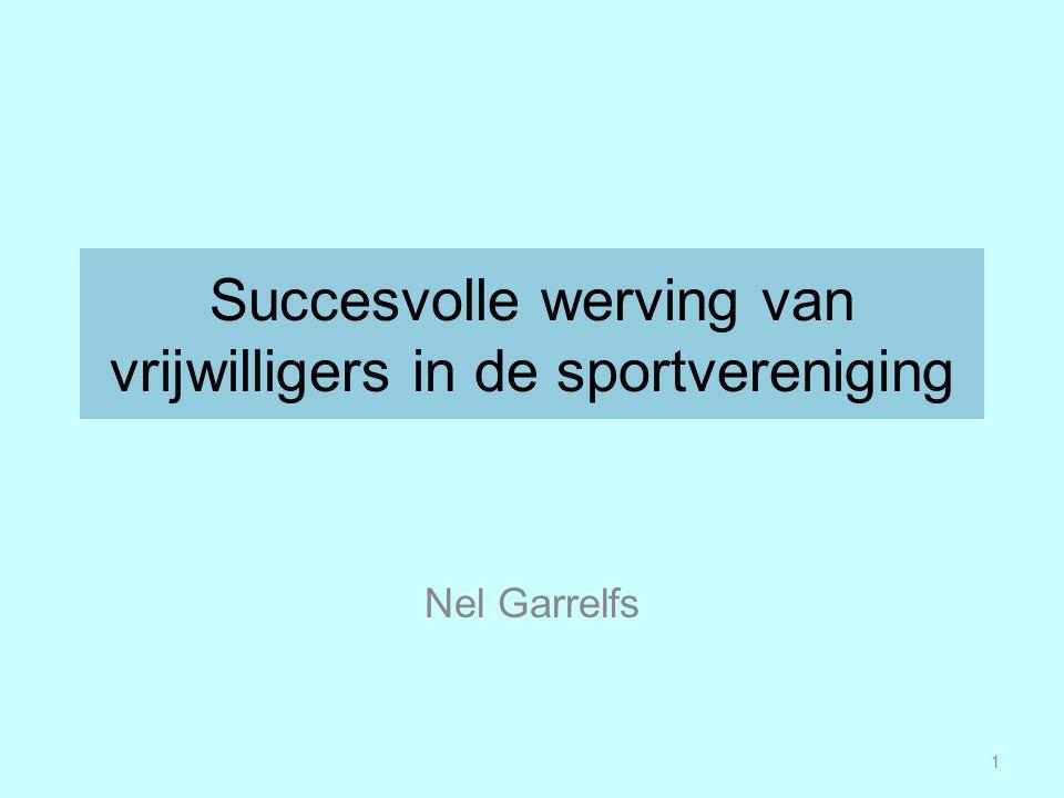 Succesvolle werving van vrijwilligers in de sportvereniging