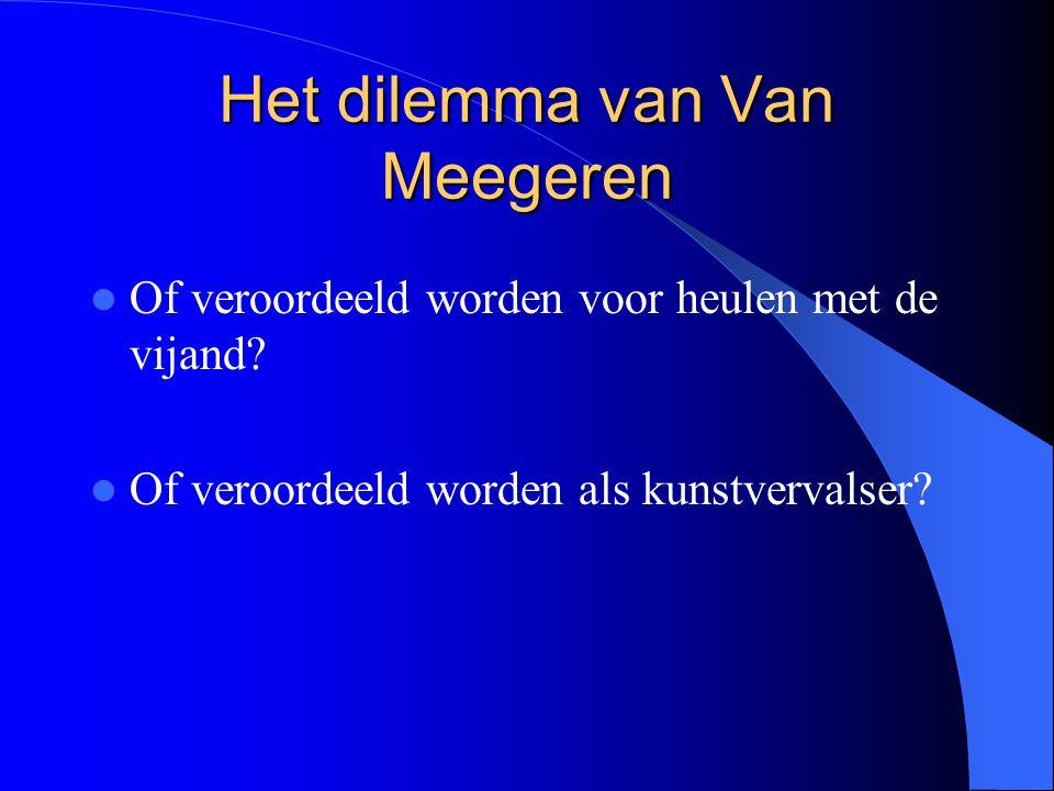Het dilemma van Van Meegeren