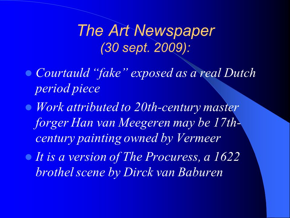 The Art Newspaper (30 sept. 2009):