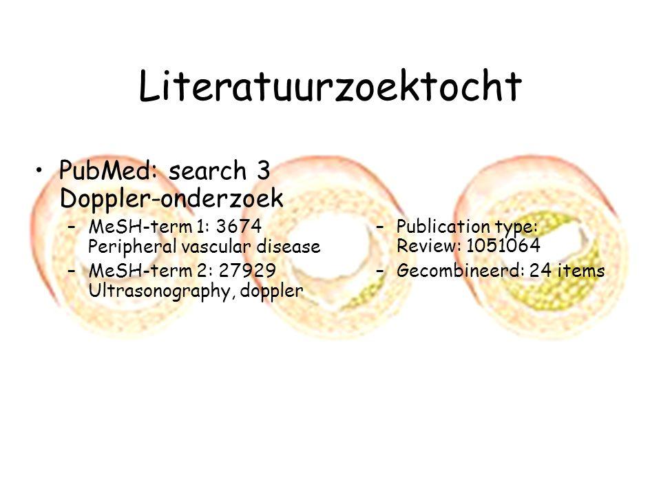 Literatuurzoektocht PubMed: search 3 Doppler-onderzoek