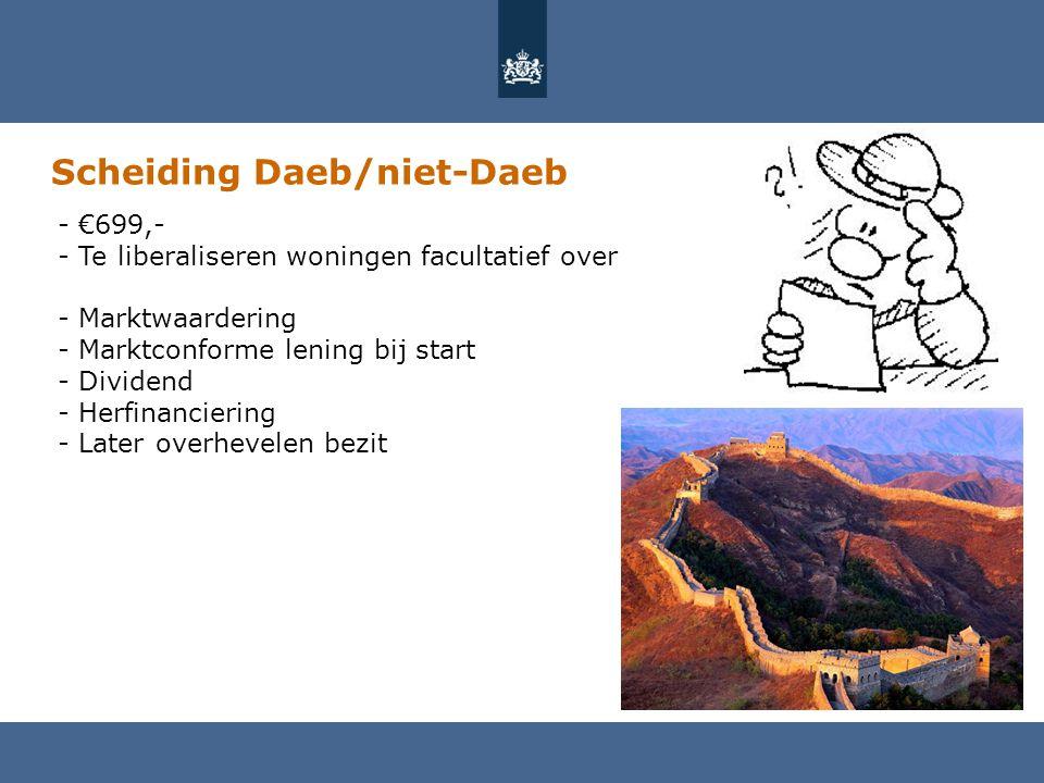 Scheiding Daeb/niet-Daeb