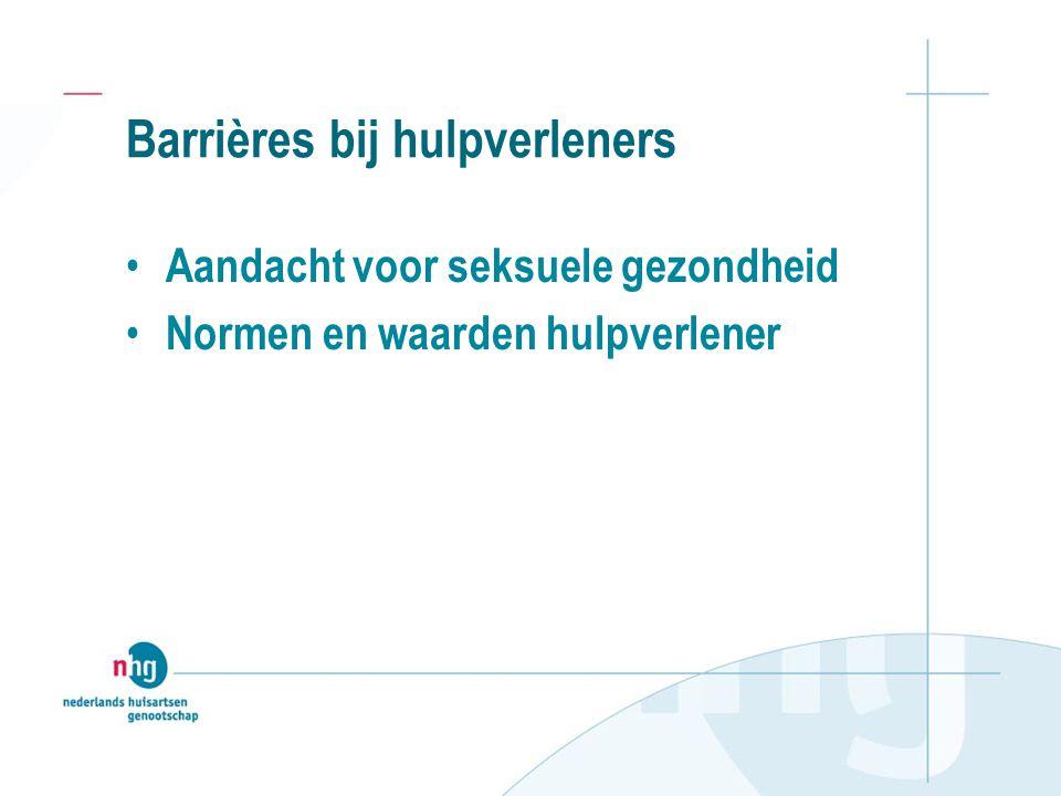 Barrières bij hulpverleners