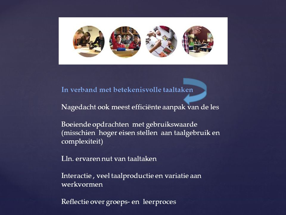 In verband met betekenisvolle taaltaken