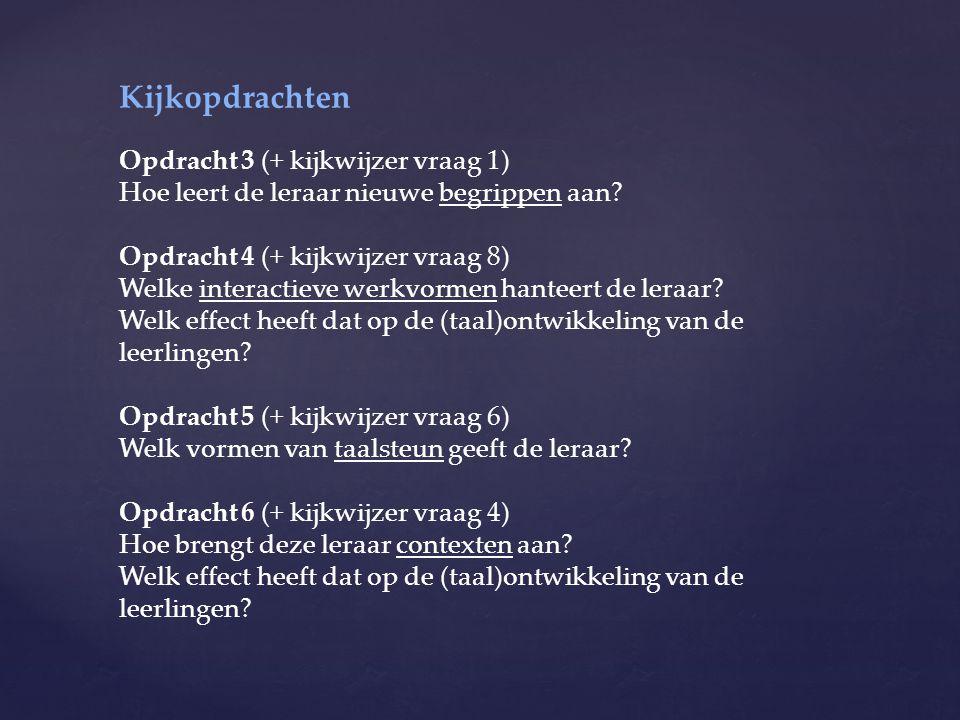 Kijkopdrachten Opdracht 3 (+ kijkwijzer vraag 1)