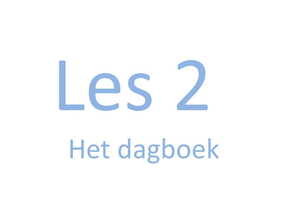 Les 2 Het dagboek