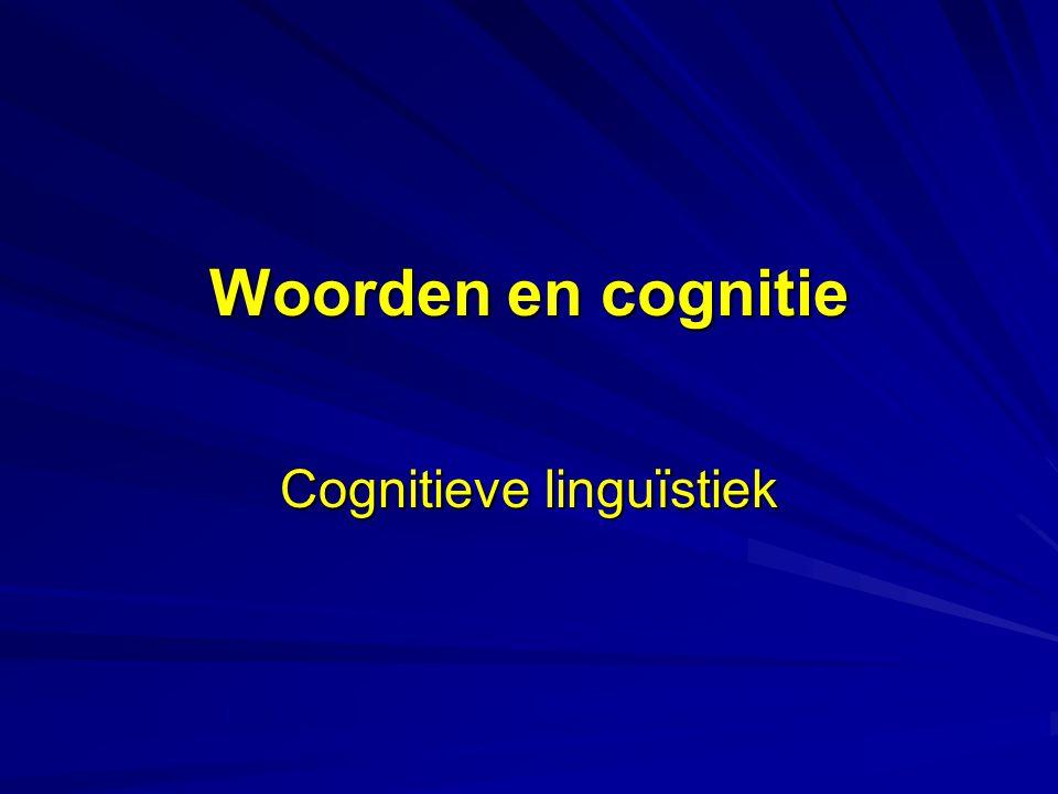 Cognitieve linguïstiek