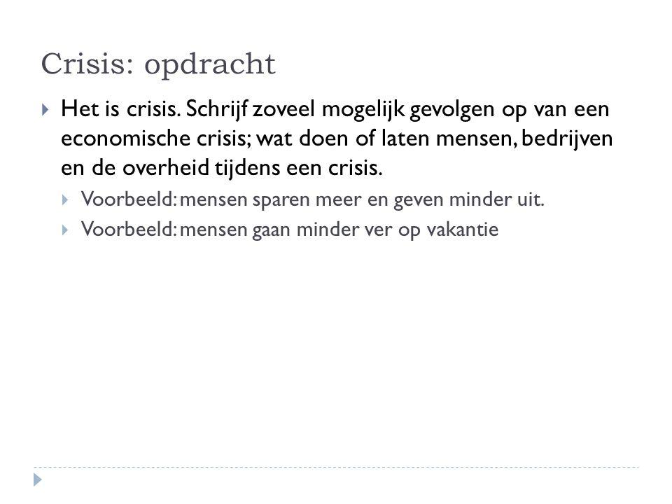 Crisis: opdracht
