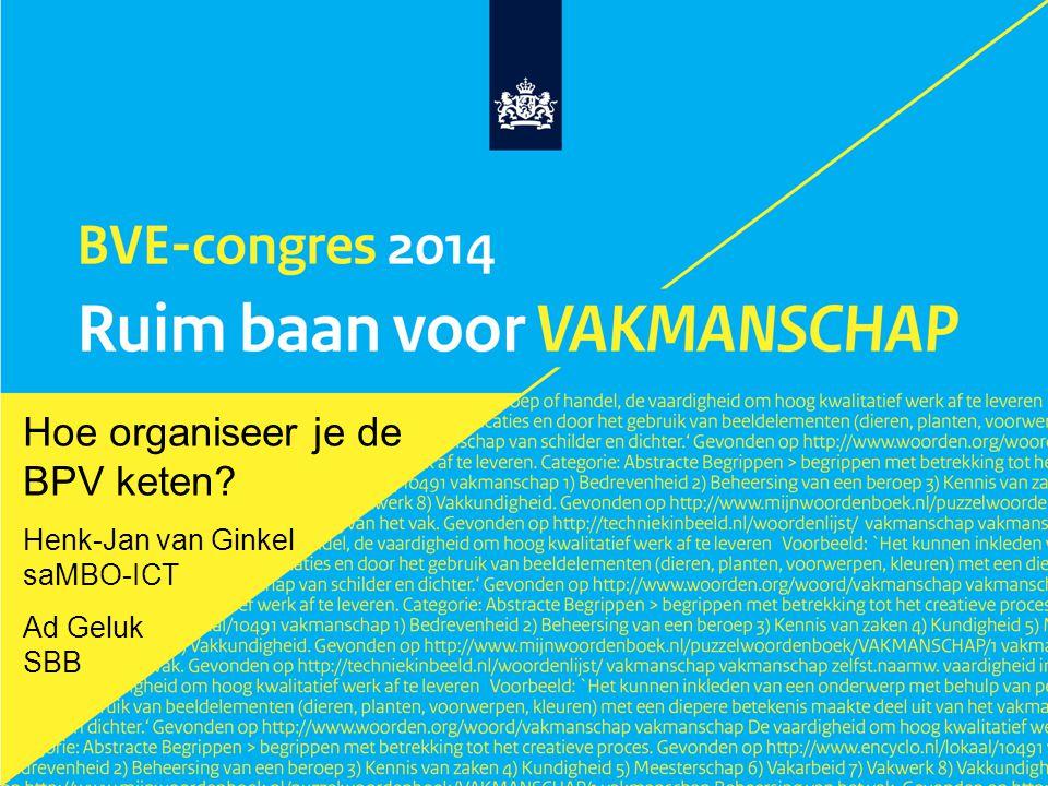 Hoe organiseer je de BPV keten Henk-Jan van Ginkel saMBO-ICT Ad Geluk