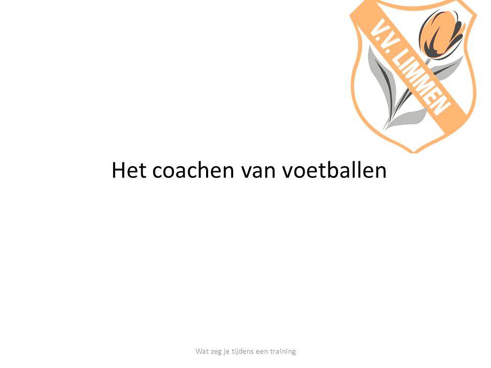 Het coachen van voetballen
