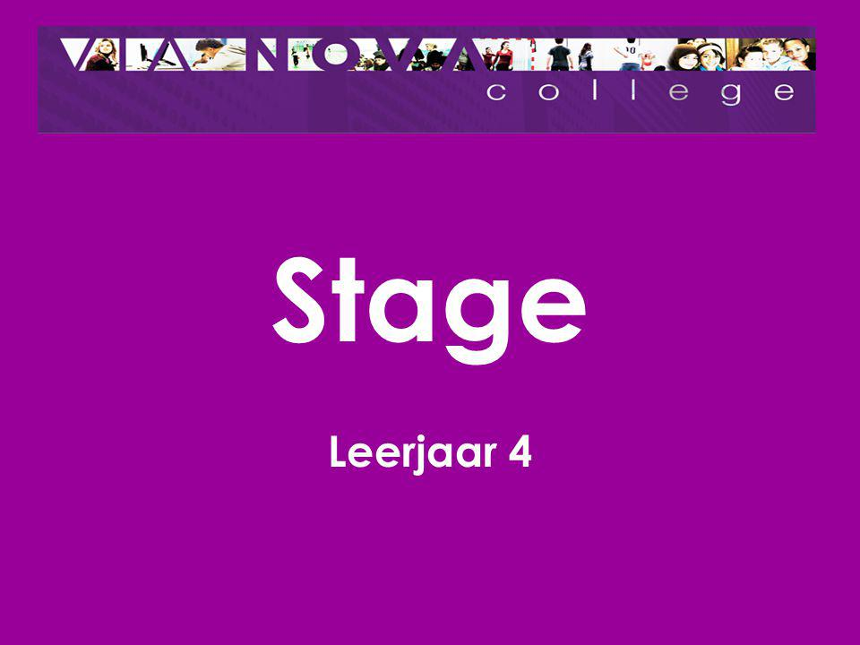 Stage Leerjaar 4