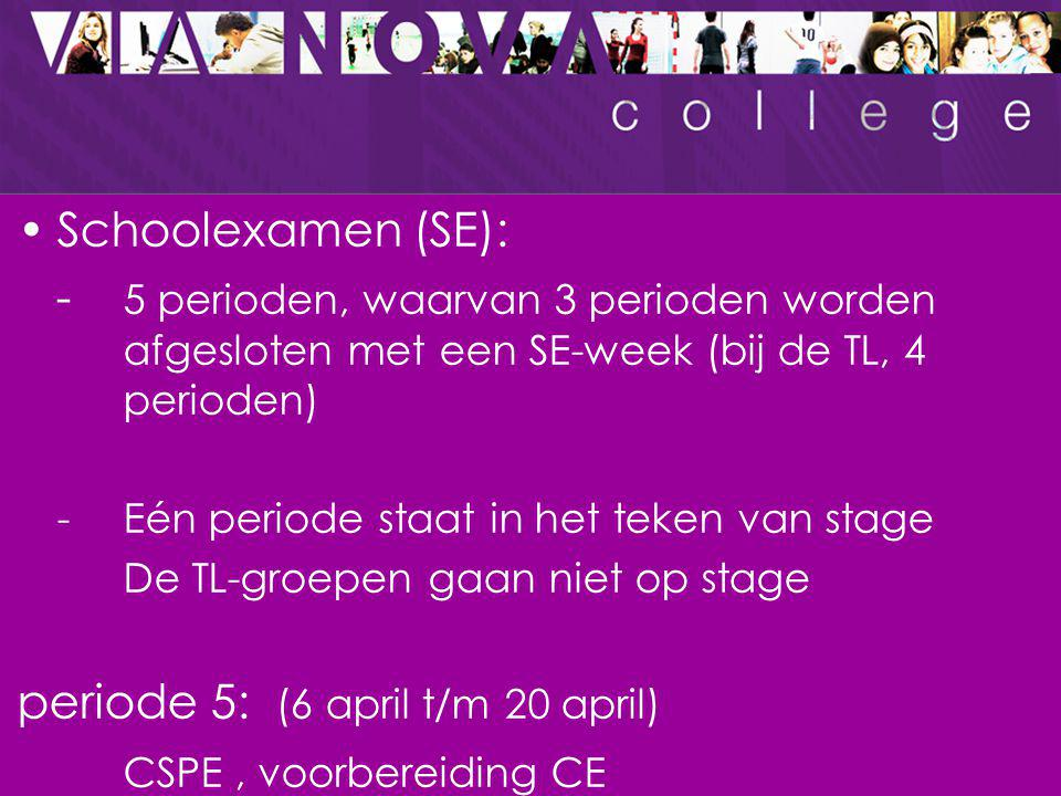 periode 5: (6 april t/m 20 april) CSPE , voorbereiding CE