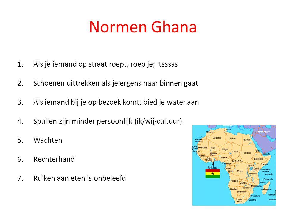 Normen Ghana Als je iemand op straat roept, roep je; tsssss