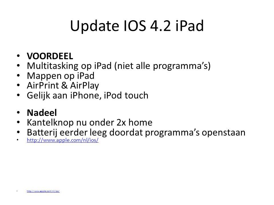 Update IOS 4.2 iPad VOORDEEL