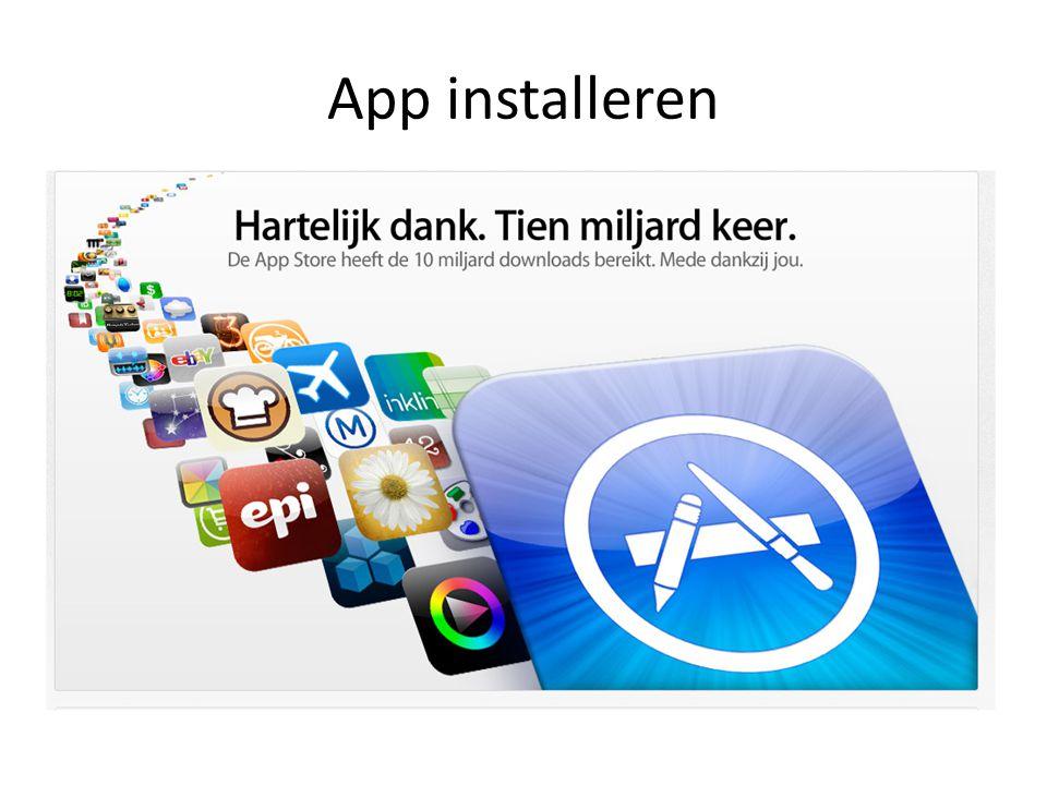 App installeren