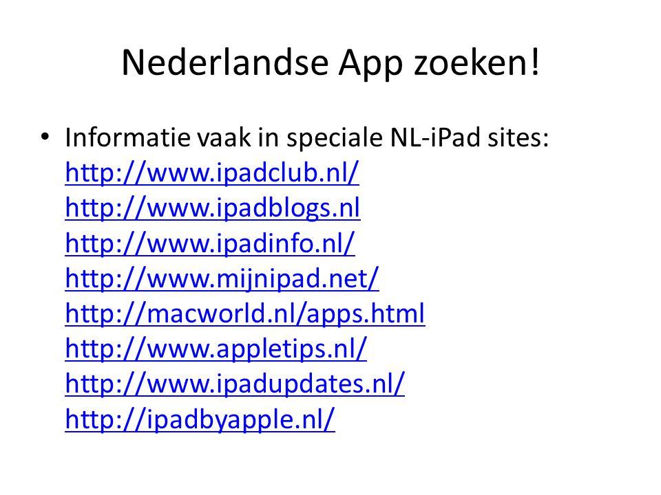 Nederlandse App zoeken!