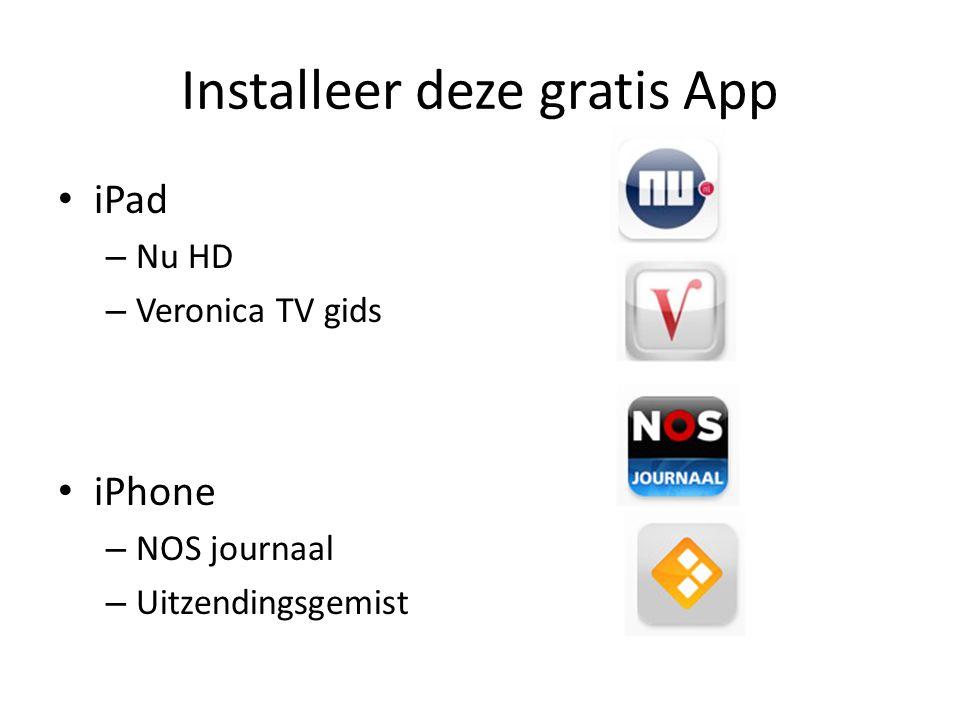 Installeer deze gratis App
