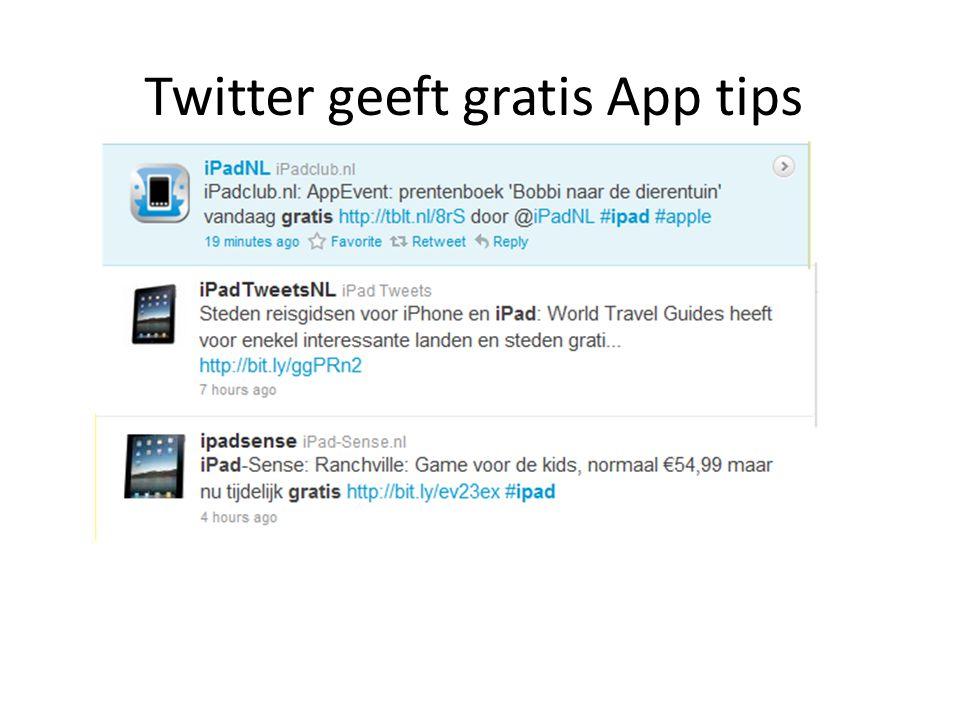 Twitter geeft gratis App tips