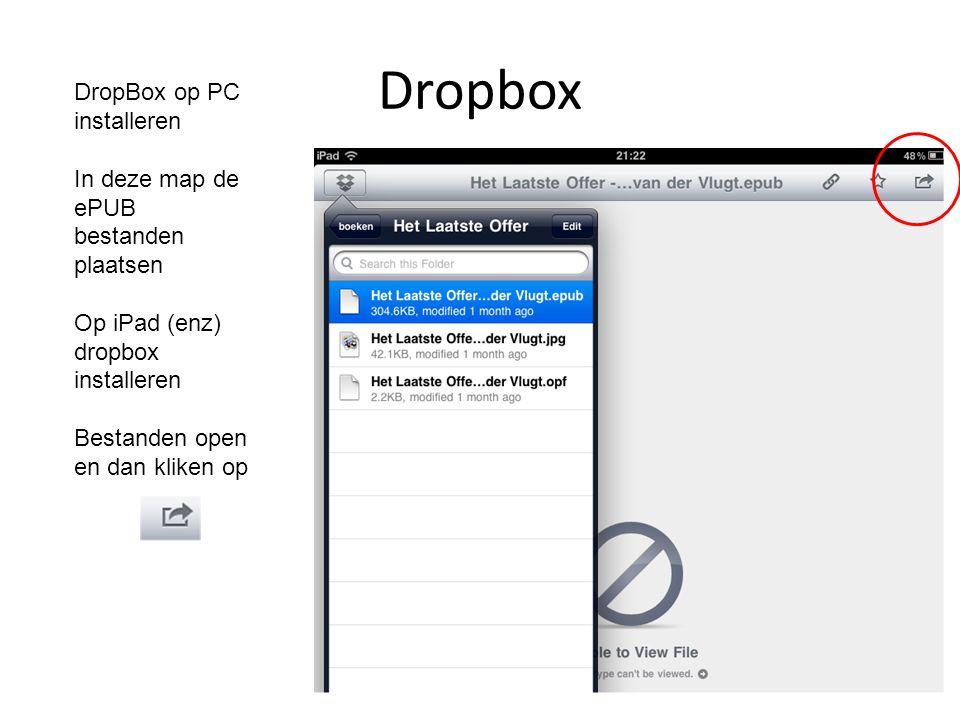 Dropbox DropBox op PC installeren