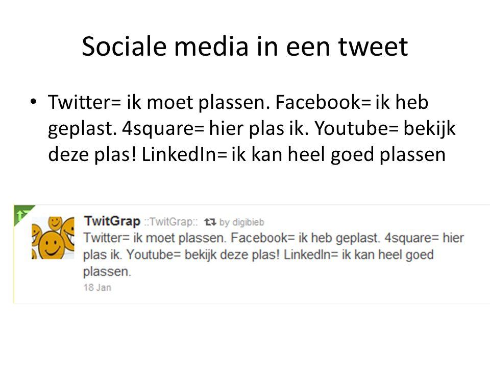 Sociale media in een tweet