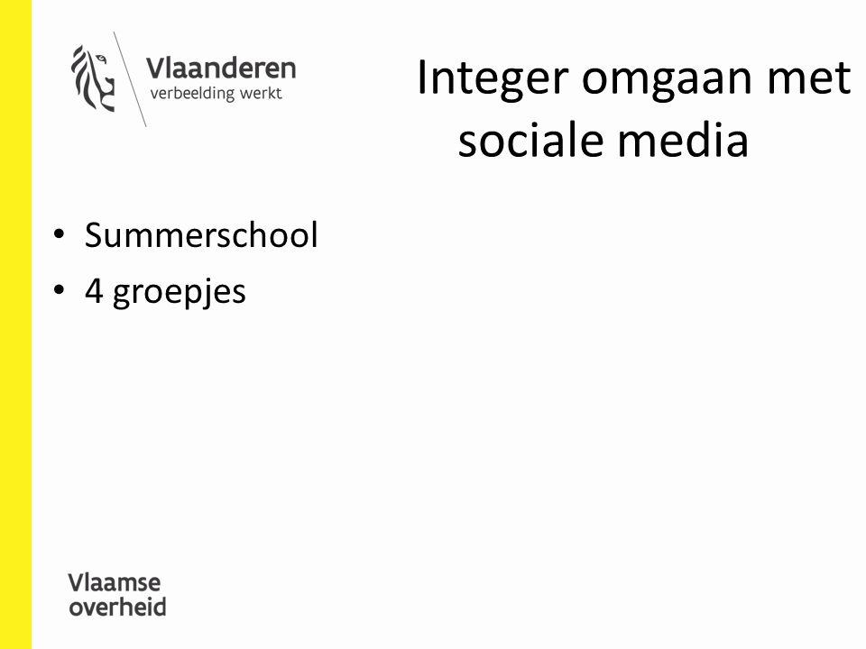 Integer omgaan met sociale media