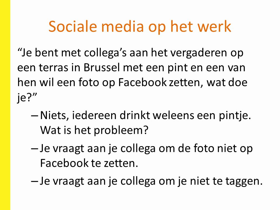 Sociale media op het werk