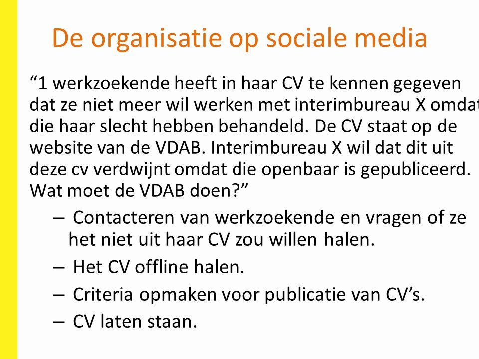 De organisatie op sociale media