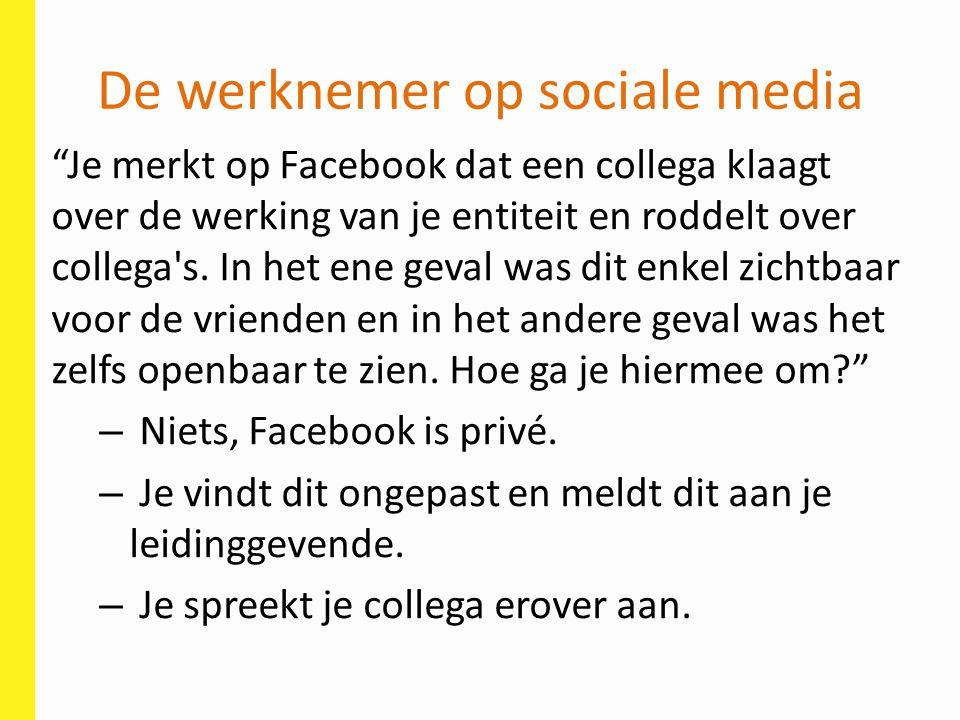 De werknemer op sociale media