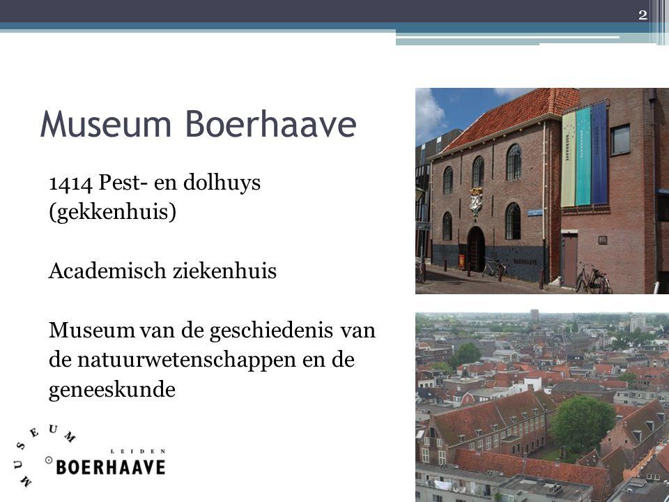 Museum Boerhaave 1414 Pest- en dolhuys (gekkenhuis) Academisch ziekenhuis Museum van de geschiedenis van de natuurwetenschappen en de geneeskunde