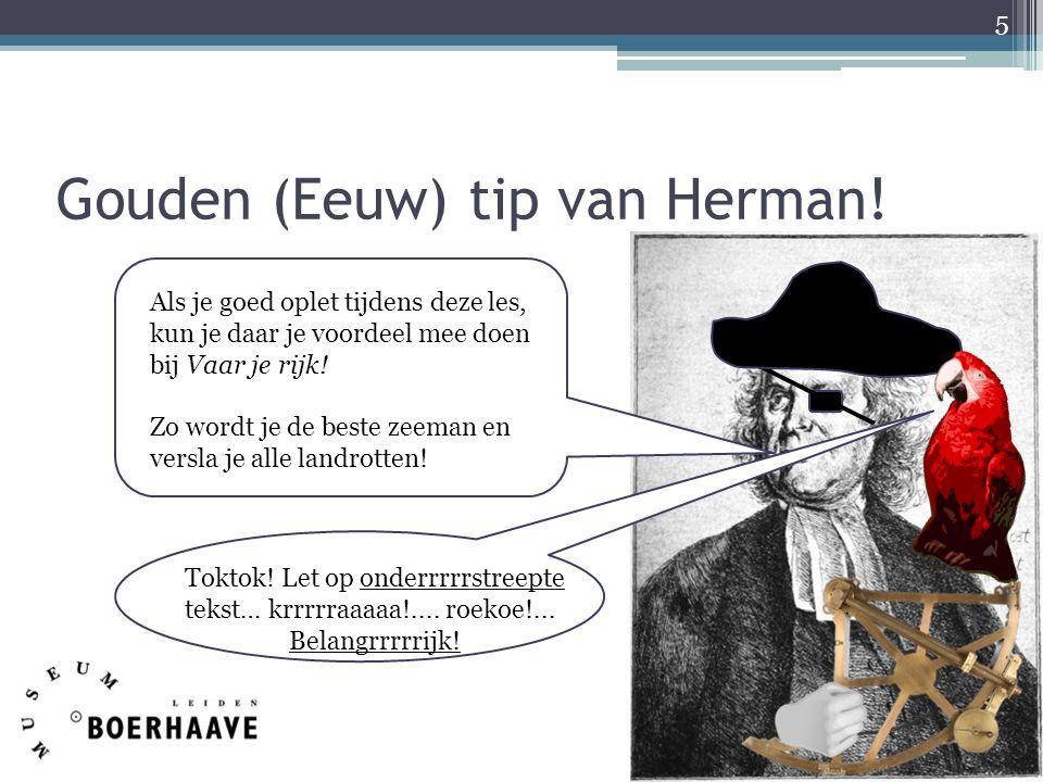 Gouden (Eeuw) tip van Herman!