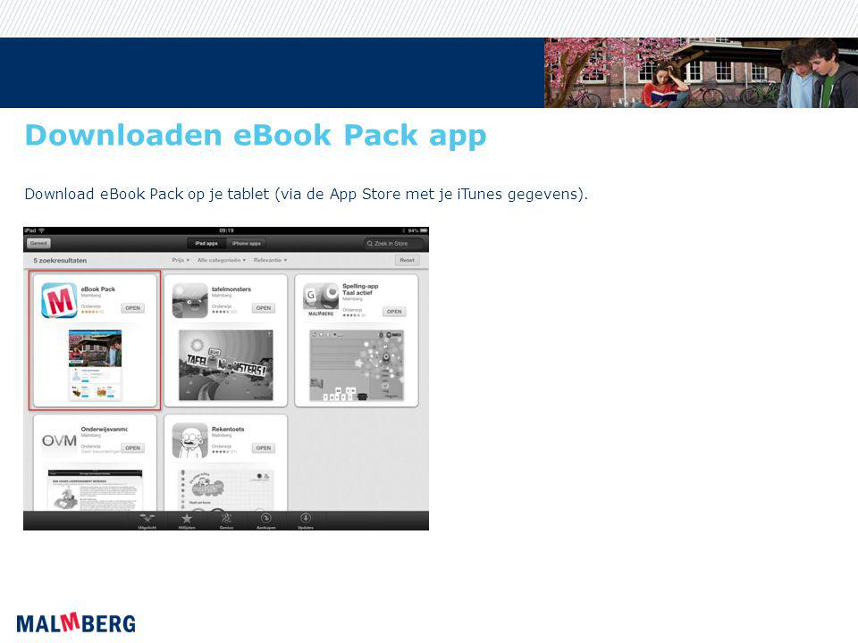 Downloaden eBook Pack app