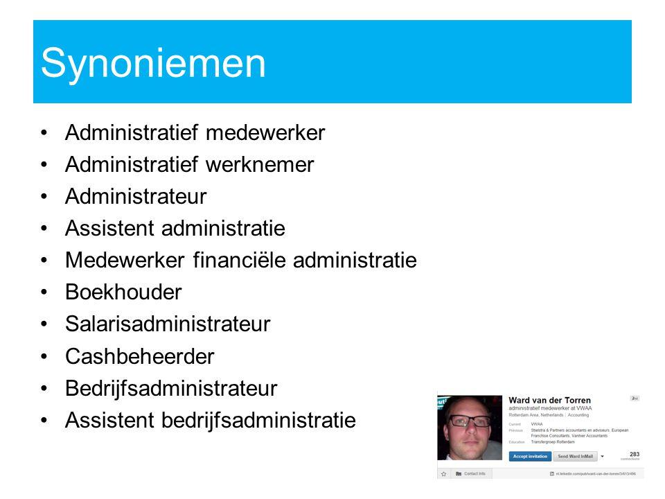 Synoniemen Administratief medewerker Administratief werknemer