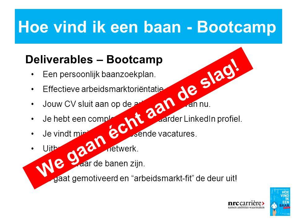 Hoe vind ik een baan - Bootcamp