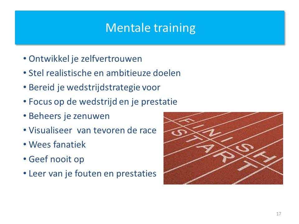 Mentale training Ontwikkel je zelfvertrouwen