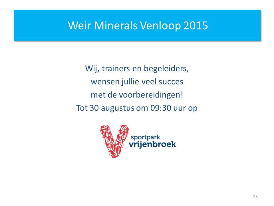 Weir Minerals Venloop 2015 Wij, trainers en begeleiders,