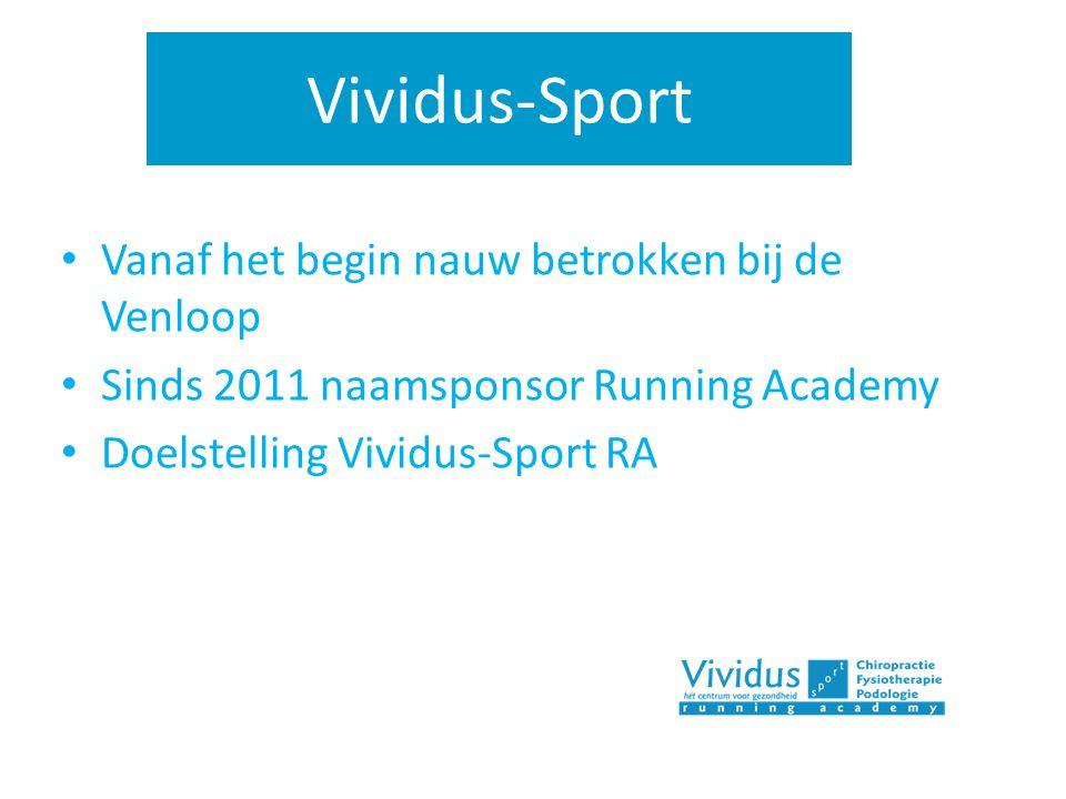 Vividus-Sport Vanaf het begin nauw betrokken bij de Venloop