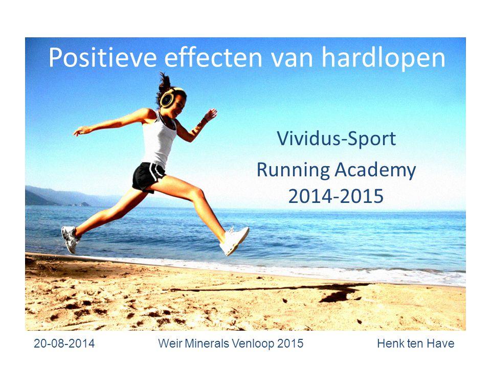 Positieve effecten van hardlopen