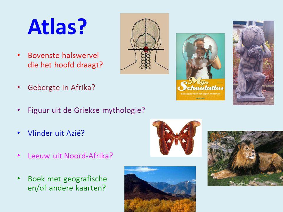Atlas Bovenste halswervel die het hoofd draagt Gebergte in Afrika