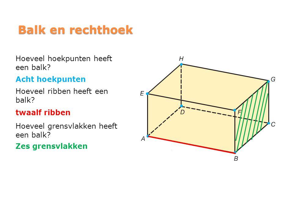 Balk en rechthoek Hoeveel hoekpunten heeft een balk Acht hoekpunten