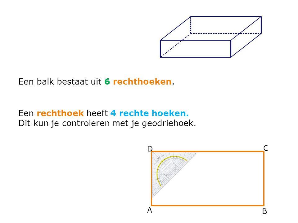 Een balk bestaat uit 6 rechthoeken.
