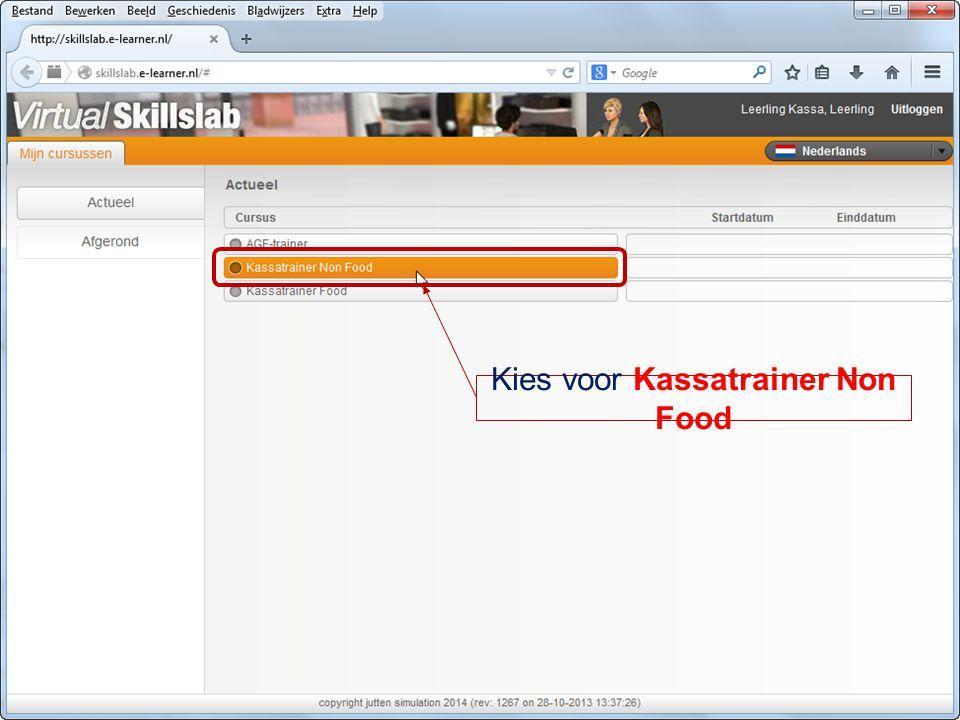 Kies voor Kassatrainer Non Food